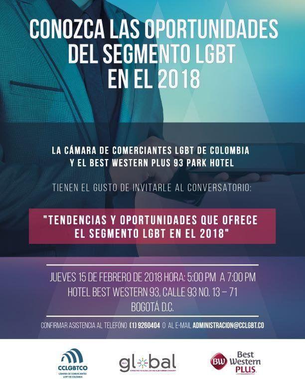 CCLGBT, NGLCC Y BEST WESTERN BOGOTÁ Realizarán Conversatorio Sobre Oportunidades Del Segmento LGBT En 2018